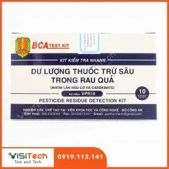 Visitech cung cấp test kit kiểm tra dư lượng thuốc trừ sâu chính hãng giả rẻ