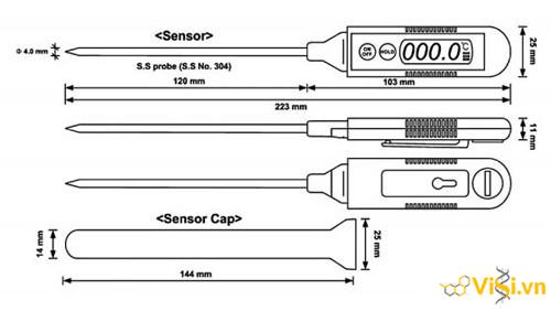 bút đo nhiệt độ điện tử hiện số HDT-1 và HDT-10