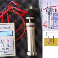 Máy đo độ ẩm gỗ dạng búa MC-460 Exotek - Đức, Máy đo độ ẩm gỗ dạng tay đóng MC-460 Exotek - Đức