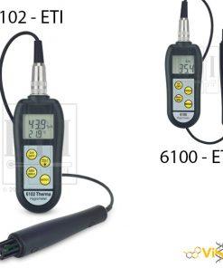 Thiết bị đo độ ẩm nhiệt độ cầm tay có đầu dò 6100 ETI, Thiết bị đo độ ẩm nhiệt độ cầm tay có đầu dò 6102 ETI