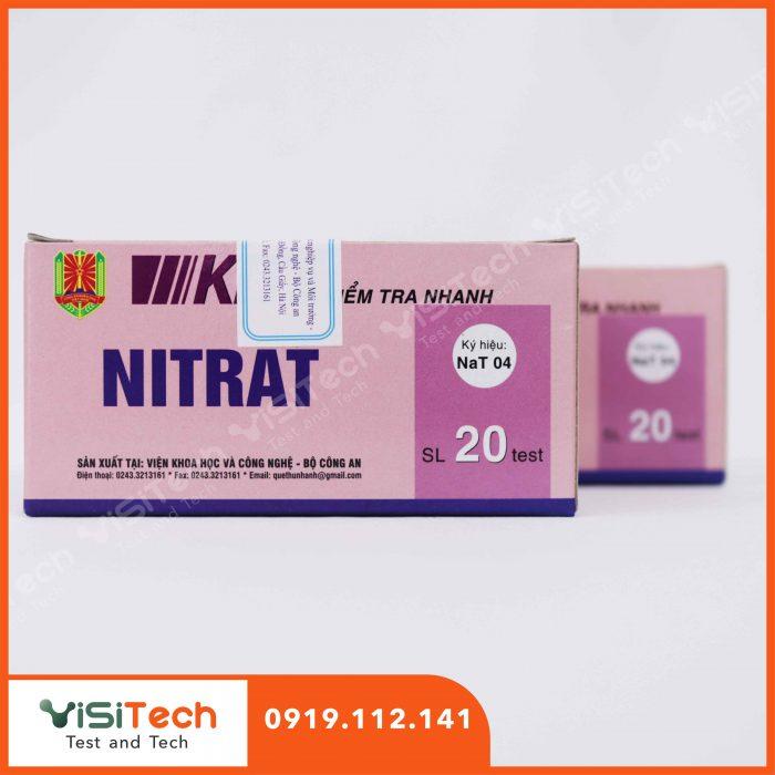 Cách kiểm soát hiệu quà nitrat trong thực phẩm bằng bộ test nhanh NaT04 Bộ Công An