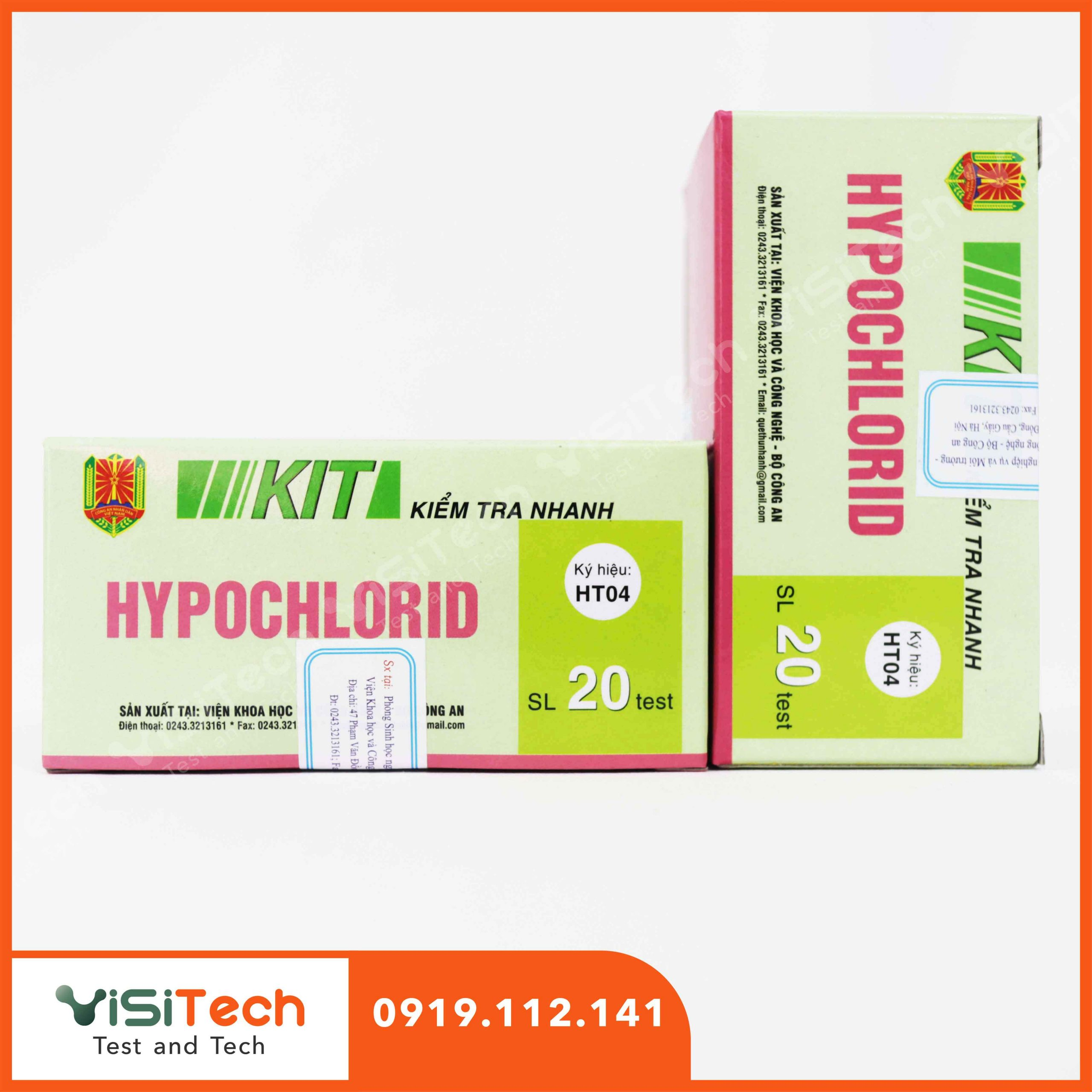 Kit kiểm tra nhanh hypoclorid giúp phát hiện hypoclorid có trong các loại thực phẩm