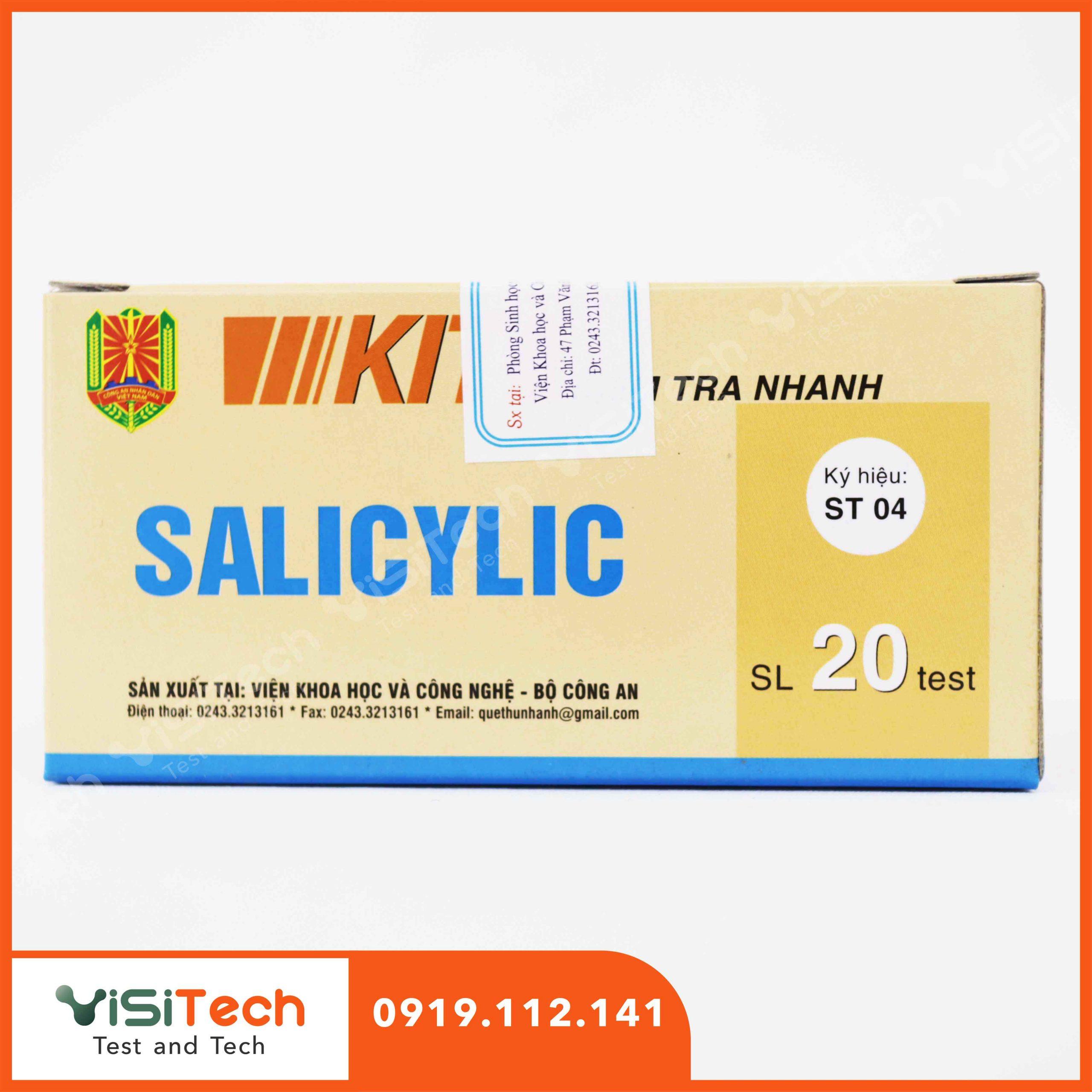 Test ST04 BCA giúp phát hiện nhanh chóng Salicilic có chứa trong các loại thực phẩm ngâm