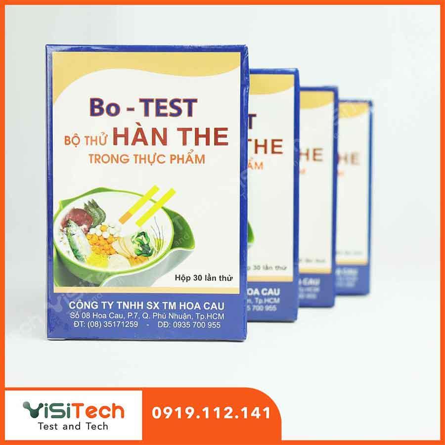 Bộ kit thử hàn the kiểm tra nhanh hàn the trong thực phẩm tại Visitech