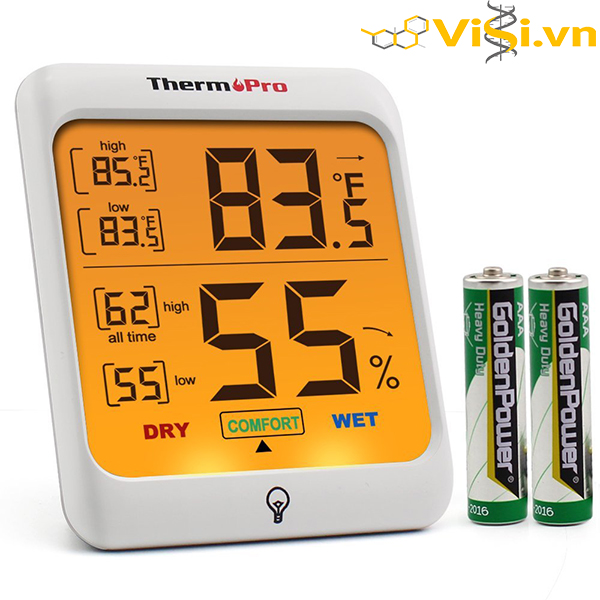 ThermoPro TP 53 Digital Indoor Thermometer Humidity Monitor with Touch Backlight 3